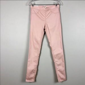 H&M Pink Super Stretch Skinny Pants NWT Size 8